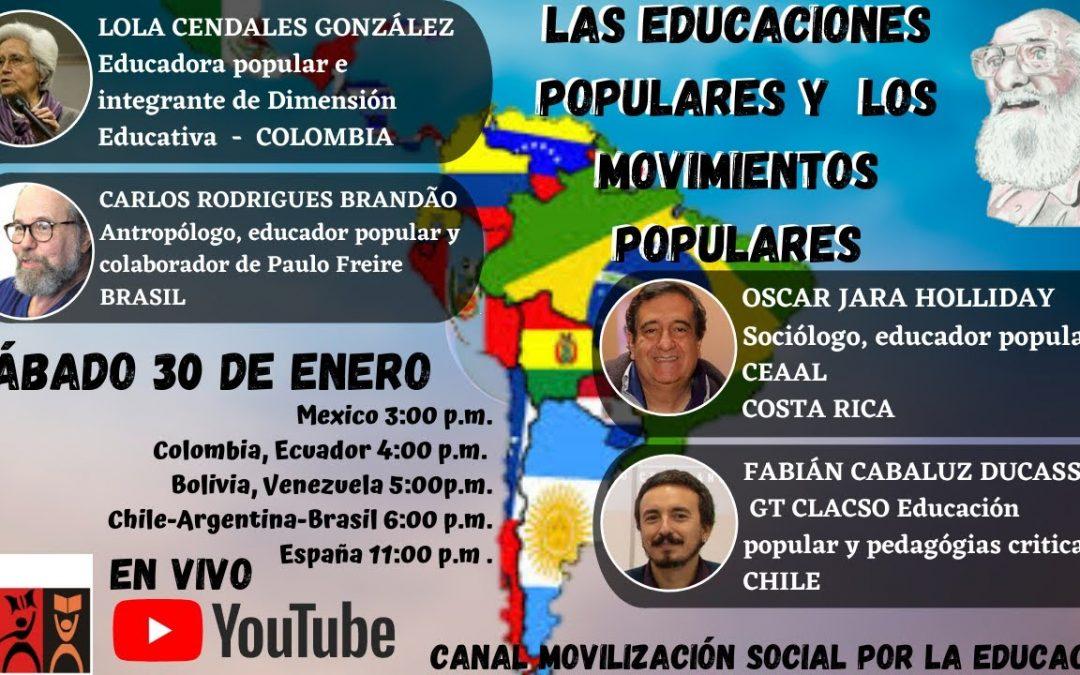 Las educaciones populares  y los movimientos populares