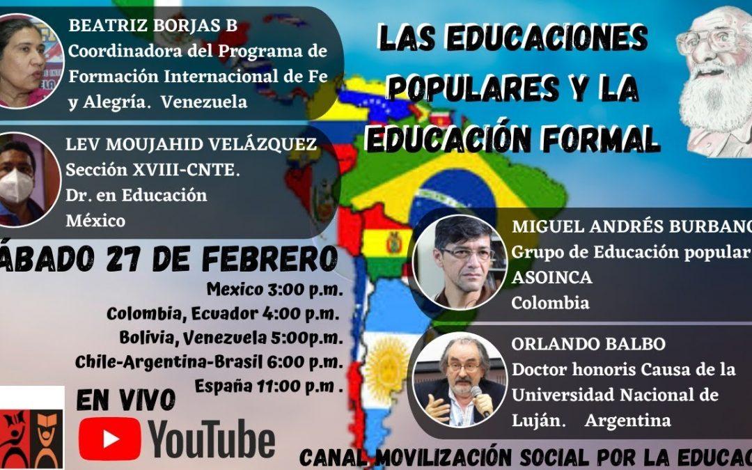 Las educaciones populares en la educación formal
